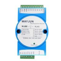 8-CH 4-20mA to Modbus TCP Network Data Acquisition module  4 DI and 2 DO WJ80
