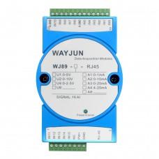 16-CH 4-20mA to Modbus TCP Network Data Acquisition Remote IO module  WJ89