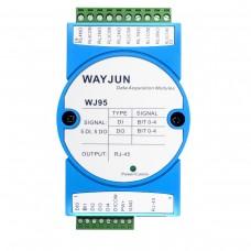 Network relay Ethernet Modbus TCP remote IO module 5-CH DI and 5-CH DO WJ95